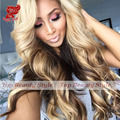 Black Blonde Brown Ombre Color Body Wave Lace Front Heat Resistant Hair Wigs Synthetic Lace Front Wig For Women Free Shipping