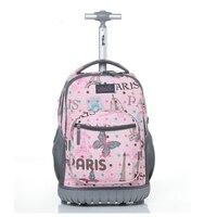 Letrend путешествовать милый мультфильм cabin Ёмкость рюкзак студент Сумки на колёсиках школьная сумка тележка для переноски детей на магистрал