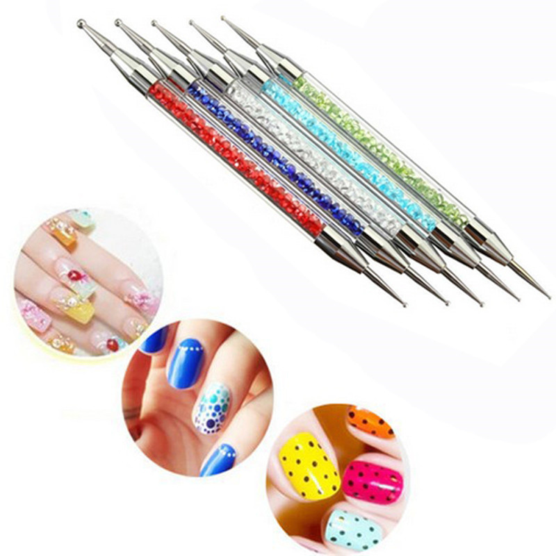 New 5pcsset Nail Art Dotting Tools Different Size Tips