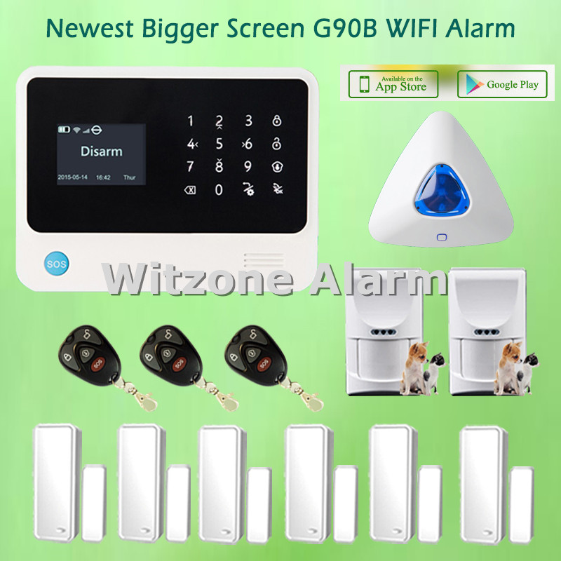 WIFI Alarm GS-G90B with Dutch/English/Spanish/French/Russian Menu Switchable, Wireless Pet Friendly PIR Sensor Alarm System джинсы мужские g star raw 604046 gs g star arc
