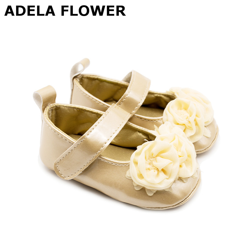 Cute Big Flowers Kids Baby Girl Newborn Shoes PU Leather First Walkers Non-slip Shoes For Baby Girls calcado infantil menina