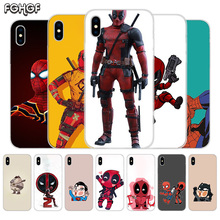 Fundas Silicone Phone Back Case For Apple iPhone 6 6S 7 8 Plus X 10 XS MAX XR 5 5S SE Heart Cover Funny Marvel Batman Chibi dead