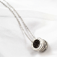 Fashion Real Gold Plated Roman Number Screw Spring Pendants Love Necklaces Luxury Brand Stainless Steel Women