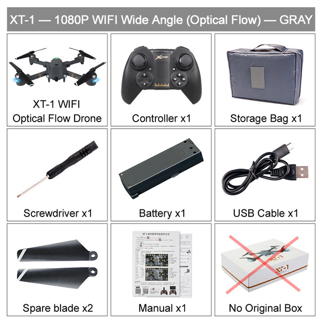 US $25 33 36% OFF|XT 1 Foldable FPV Selfie Drone 480P 720P 1080P WIFI HD  Camera Wide Angle Folding RC Quadcopter Toy Altitude Hold VS X12 E58  Dron-in
