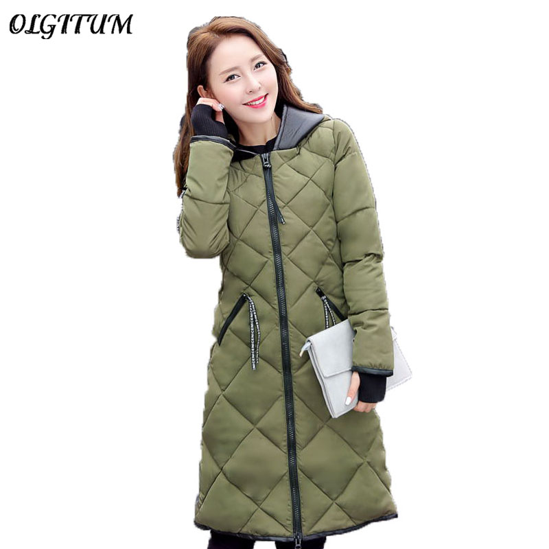 2019 New Winter Jacket lady Winter Coat Women Cotton Long Hooded Section Coat women Thick Slim Waist   Parkas   Outwear