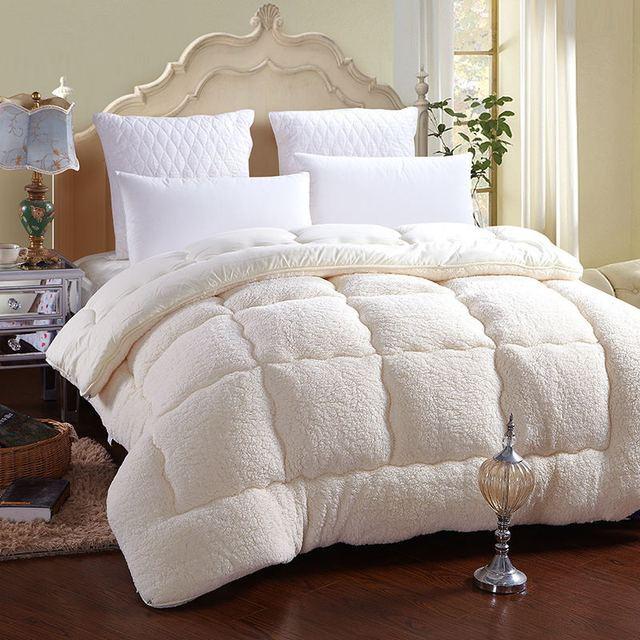 Winter Quilt Warm Thick Comforter Blanket Duvet Soft Australia Berber Fleece Cashmere