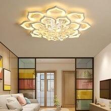 Хрустальная люстра для гостиной светильник Современная потолочная