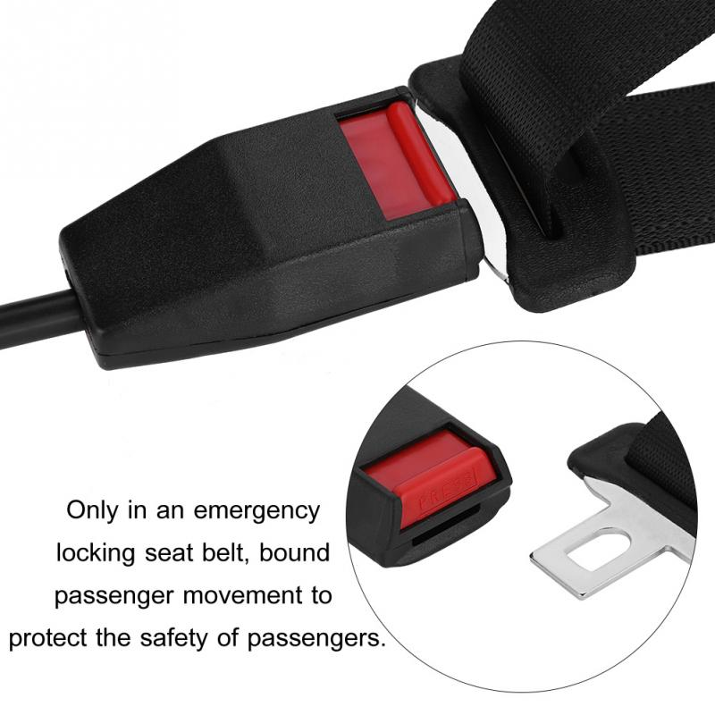 Universal 3 Point Retractable Auto Seat Belt Bolt Extension Safety Strap Buckle