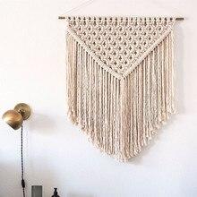 Knotted Macrame Wall Art Handmade Cotton Hanging Tapestry Fabrics Bohemian
