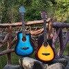DIDUO 38 Inch Folk Guitar Basswood Guitar Metal Knob Acoustic Guitar Beginners Learn To Practice Guitar