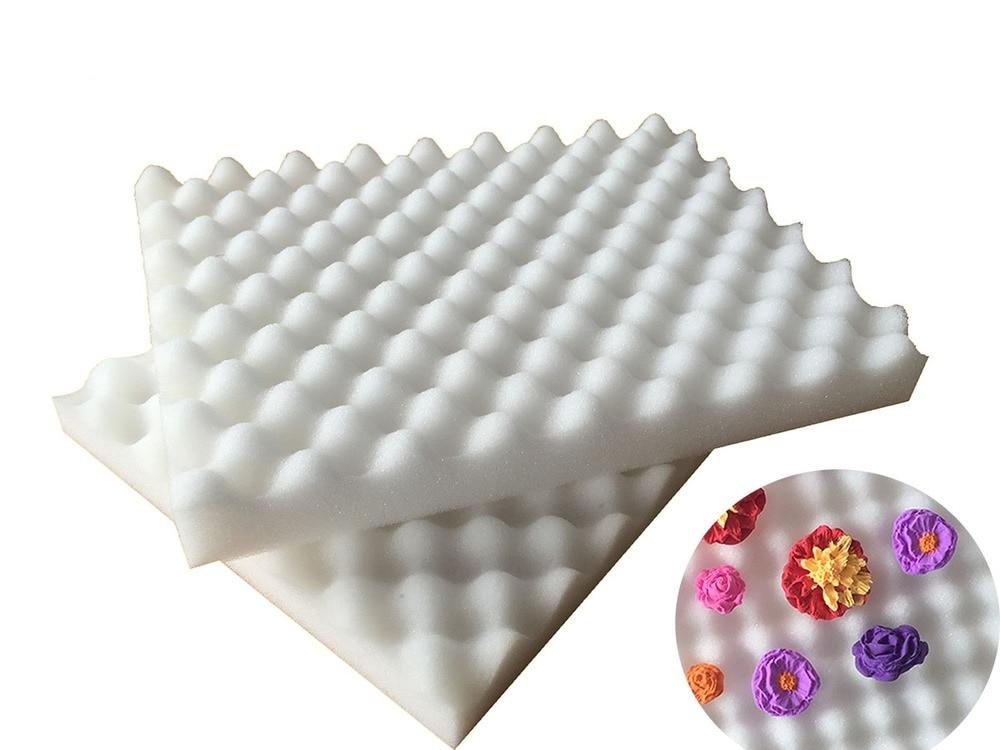 ᗜ Ljഃ2 piezas/set fondant cake Tools fondant flor diseño esponja ...
