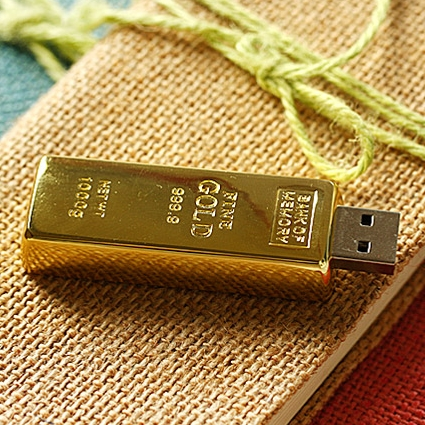 Real Capacity Gold Bar USB 3.0 Flash memorijski uređaj Stick Disk Key 64GB 8GB 32GB USB Flash Drive 1TB 2TB Poklon 16GB 512 GB