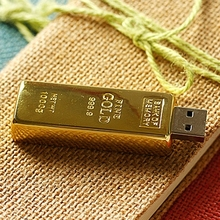 Real Capacity Gold Bar USB 3.0 Flash Memory Drive Stick Disk Key 64GB 8GB 32GB USB Flash Drive 1TB 2TB Pendrive 16GB 512 GB Gift