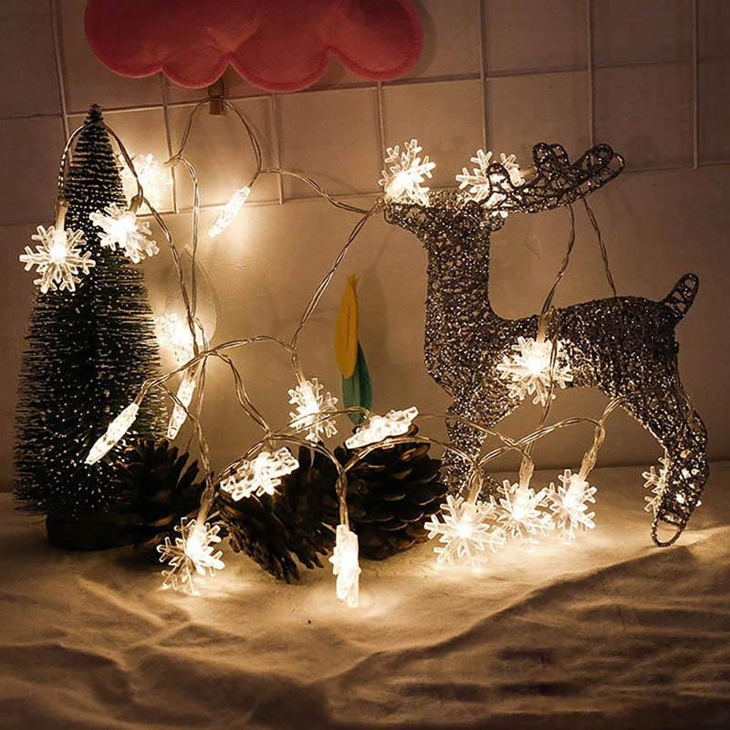 Multi-color 200CM Small Snowflake Light Tubes battery 4.5V Christmas String Light Garden Wedding Party Holiday Tree Decor