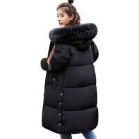 Oversize Warm Thicken Womens Winter Jackets Hooded Cotton Padded Outwear Female Coat Winter Women 2019 High Quality Long Parka