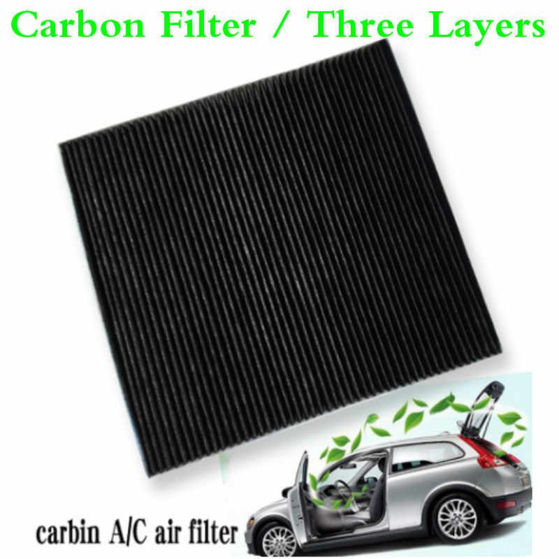 รถยนต์เปิดใช้งานคาร์บอนกรองเครื่องกรองอากาศรถยนต์ๆ/C AC กรองอากาศสำหรับโฟล์คสวาเกน VW Touareg 2004-2010