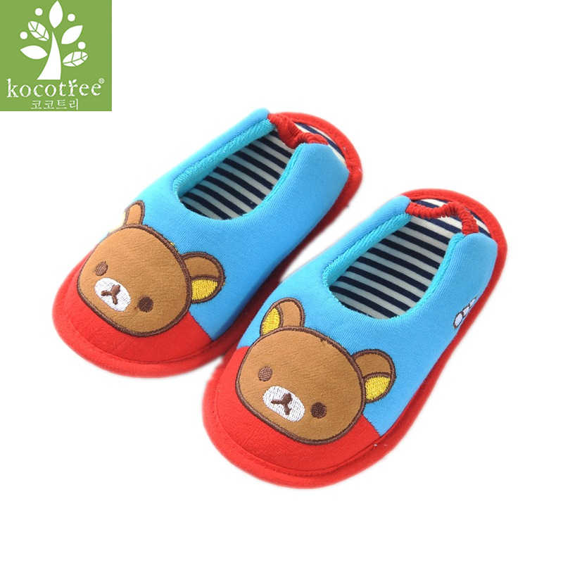 Kocotree Spring Autumn Children Slippers Baby Girls Soft Anti-slip Home Shoes Kids Cartoon Car Boys Slippers Indoor Floor Shoes