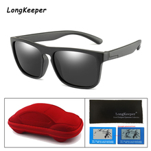 Child Sunglasses Polarized Square Childrens Silicone Mirror Lens Kids Sun Glasses with Case Boys Girls UV400