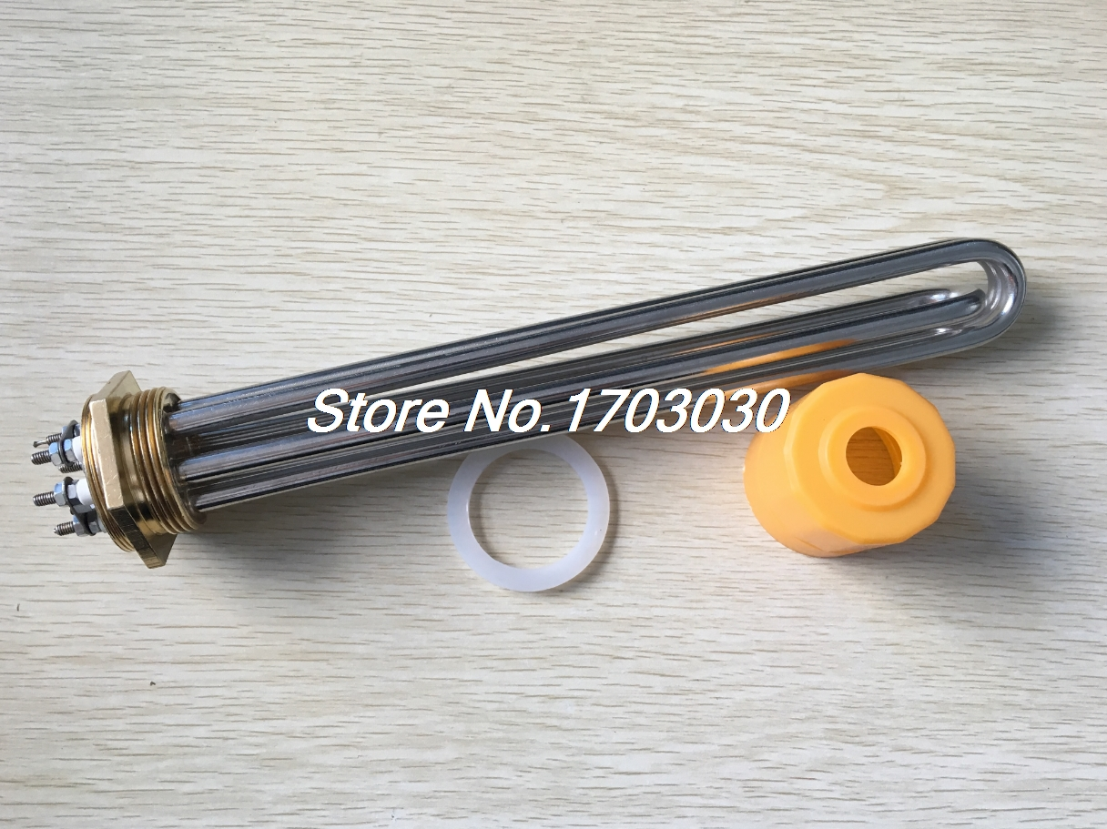 AC 380V 9000W 9KW 6P Terminals Water Boiler Heating Element 3U Tube 1.5Heater free shipping 380v 12kw terminals water boiler heating element 3u tube heater