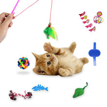 16pcs/set Toys Variety Pack Cats Funny Mouse Catnip Sisal Balls Gift Feather Toy Set For Small Cat Kitten Pet Supplies Top Sell(China)
