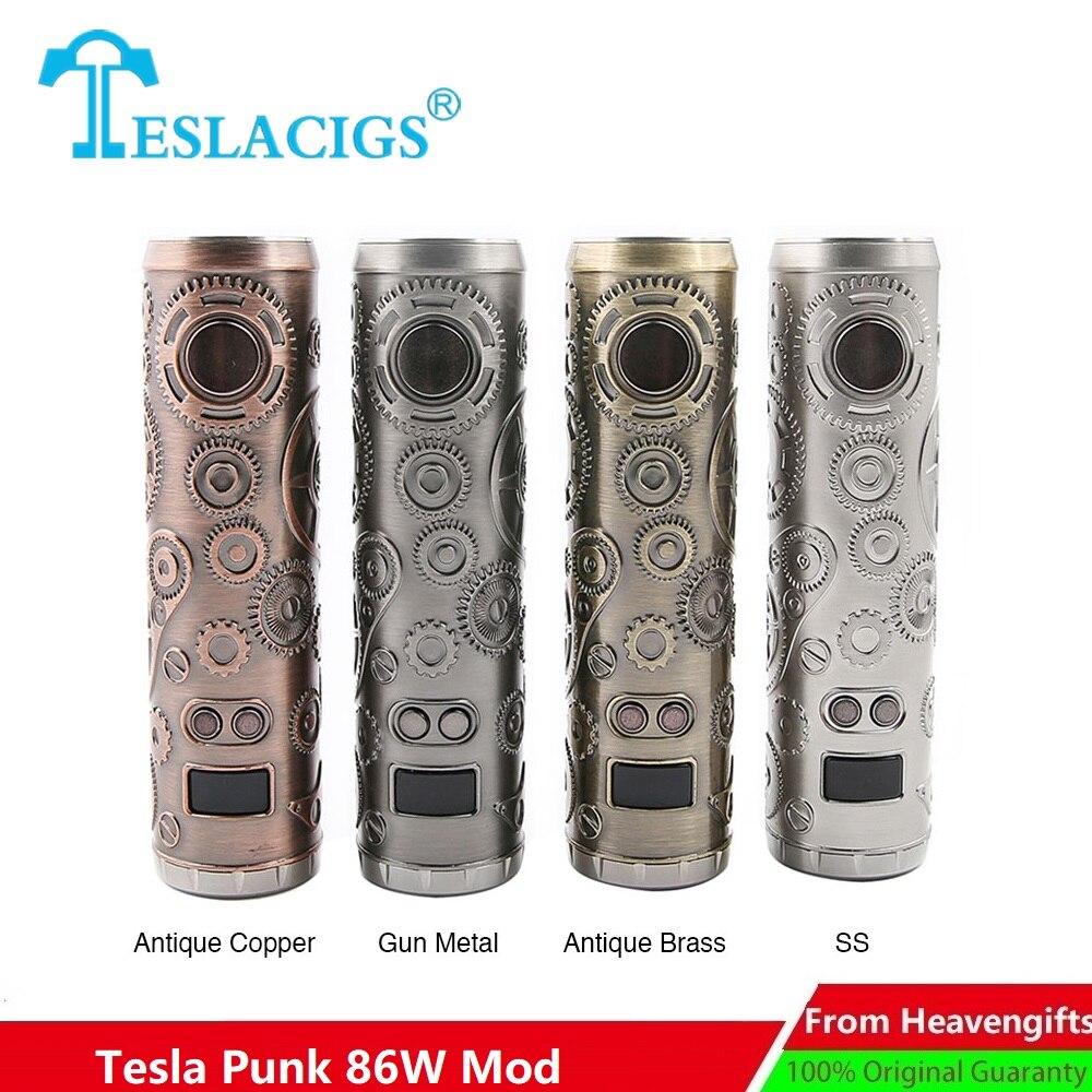 Cigarettes électroniques Tesla Punk 86 W Mod Teslacigs Max 86 W alimenté par 18650 batterie Punk Style Vape vaporisateur VS Punk 85 W E cig