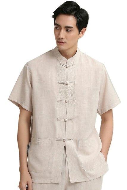 Shanghai Story camicia di lino uomini uomo cinese tradizionale  abbigliamento vestiti per l uomo kungfu 78ac1dc6730