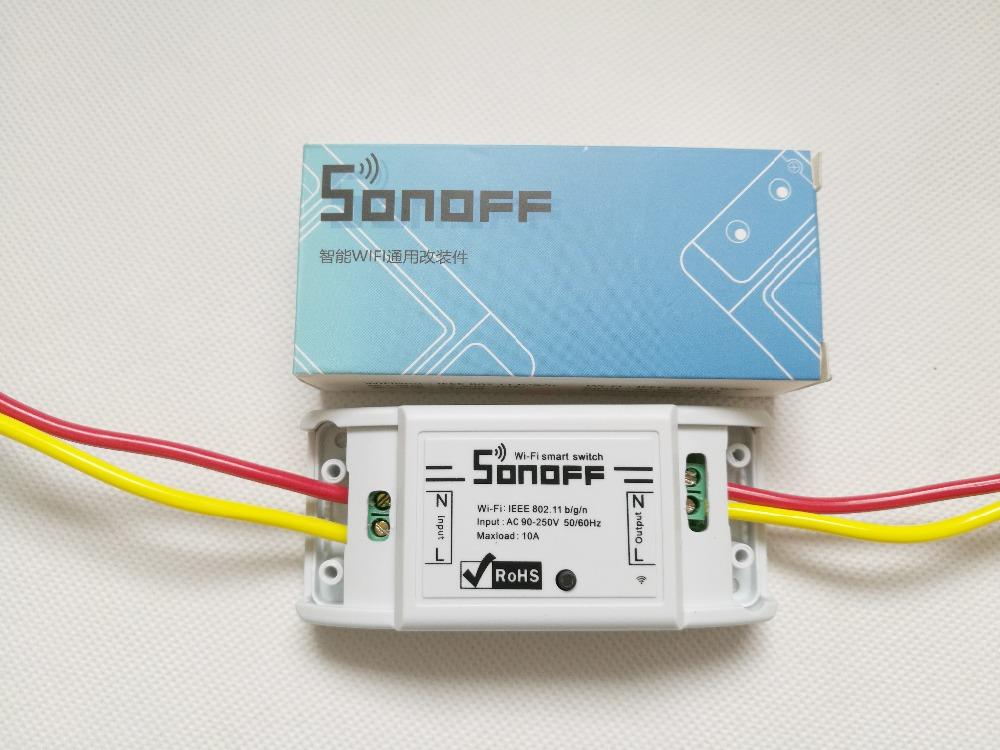 Sonoff Moduł Automatyki Inteligentnego Domu Wifi Przełącznik Uniwersalny Zegar Diy Przełącznika Bezprzewodowego Pilota zdalnego sterowania Poprzez IOS Android 10A/2200 W 17