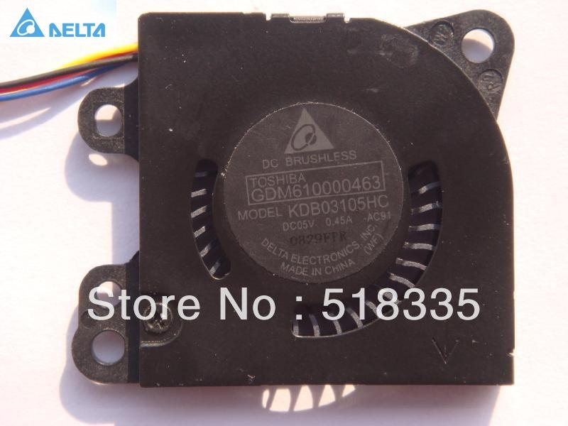 Delta KDB03105HC 3CM 3*3*0.5CM 30*30*5MM 3005 small blower  5V 0.45A cooling fan delta 12038 12v cooling fan afb1212ehe afb1212he afb1212hhe afb1212le afb1212she afb1212vhe afb1212me