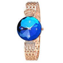 Sapphire Crown Watch Women Dress Fashion Stainless Steel Hook Buckle Quartz Watch Luxury Ladies Clock Relogio Feminino 2016
