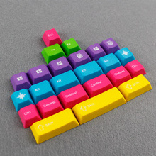 ENJOYPBT CMYW 24 keycaps blank top printed cherry profile Impregnation carving sculpture 24 keys for mechanical gaming keyboard