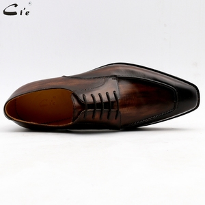 Image 3 - cie men dress shoes leather patina brown men office shoe genuine calf leather outsole men suits formal leather handmade No.7
