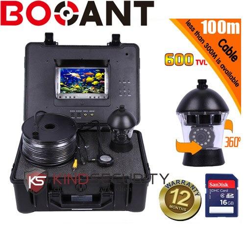 100 M DVR Sous-Marine sous-marin caméra 360 degrés caméra vidéo poissons caméra cctv caméra sous-marine CR110-7C avec 7 moniteur