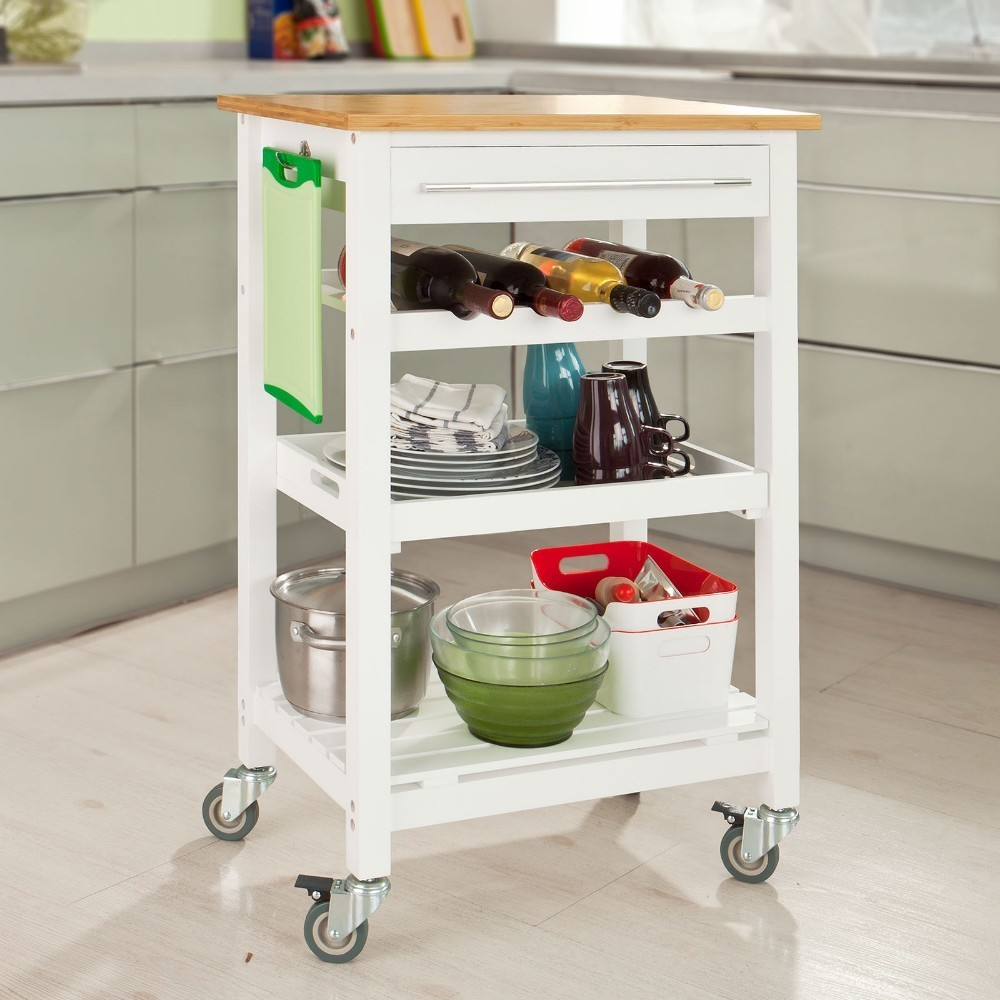 Sobuy Shop Sobuy Fkw16 Wn Kitchen Storage Trolley Serving Trolley Kitchen