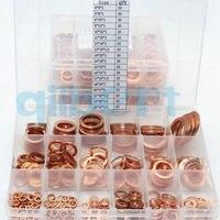 15 Sizes Copper Flat Gasket Sealing Ring Washer Spacer Set