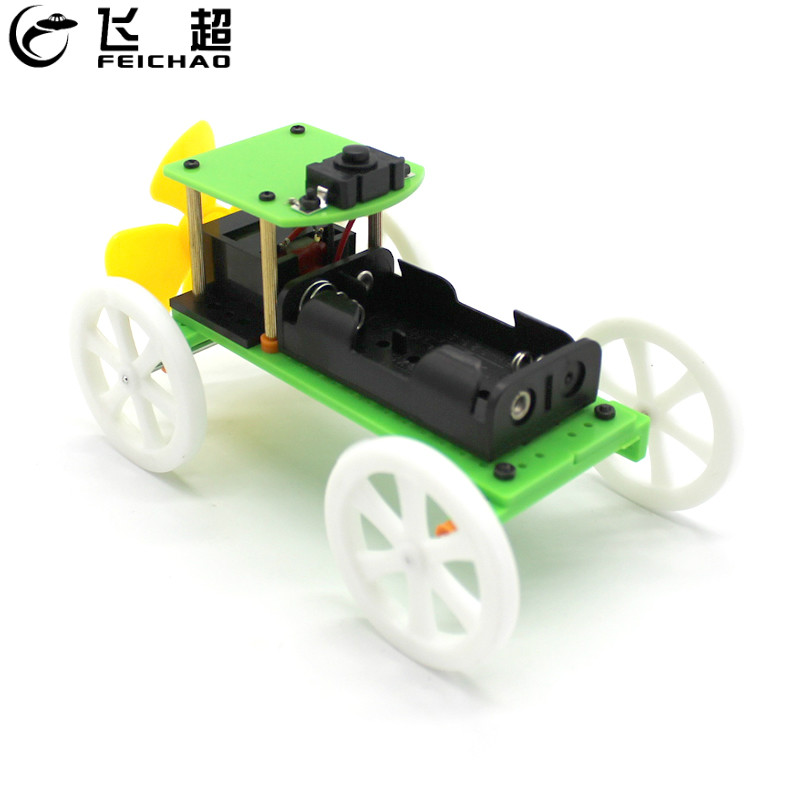 U дизайн DIY ветроэнергетический автомобиль ручной научный эксперимент модель набор гаджет Развивающие игрушки для детей лучшие