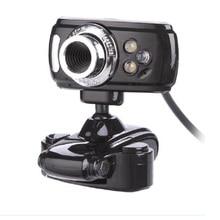 цена на Fanshu Full HD 1080P USB 50.0M Webcam Video Computer Camera with Microphone 3 LED for PC Laptop Skype