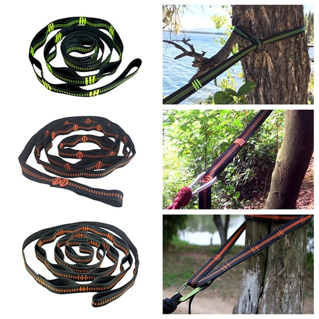 TR 16280 Outdoor Tree Hanging Hammock Strap High Load Bearing Nylon Webbing Climbing Rope Durable Camping Travel Portable Sling