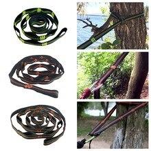 TR 16280 para colgar en el árbol exterior, hamaca con correa de nailon de alta carga, cuerda de escalada, duradera, para viaje y acampada, eslinga portátil