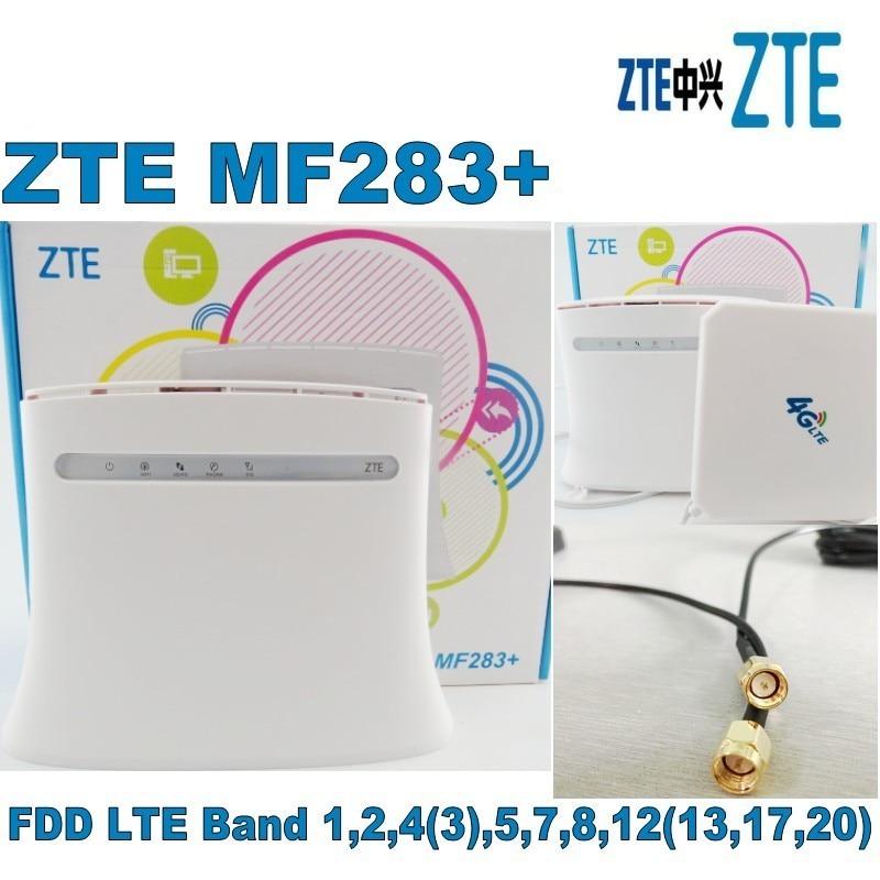 4G LTE WIFI ROUTEUR CPE ZTE MF283 + y compris 35DBI Gain LTE Mimo Antenne Bon Prix Longue Portée Wifi antenne