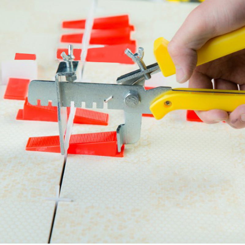 High Quality Tile Leveling System100 Clips + 100 Wedges+1Tile Pliers Floor Wall Flat Leveler Plastic Spacers Constructions Tool