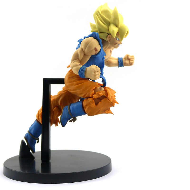 Novo 20cm dragon ball z goku figura brinquedo son goku salto 50th aniversário anime dbz modelo boneca presente para crianças figura de ação brinquedos