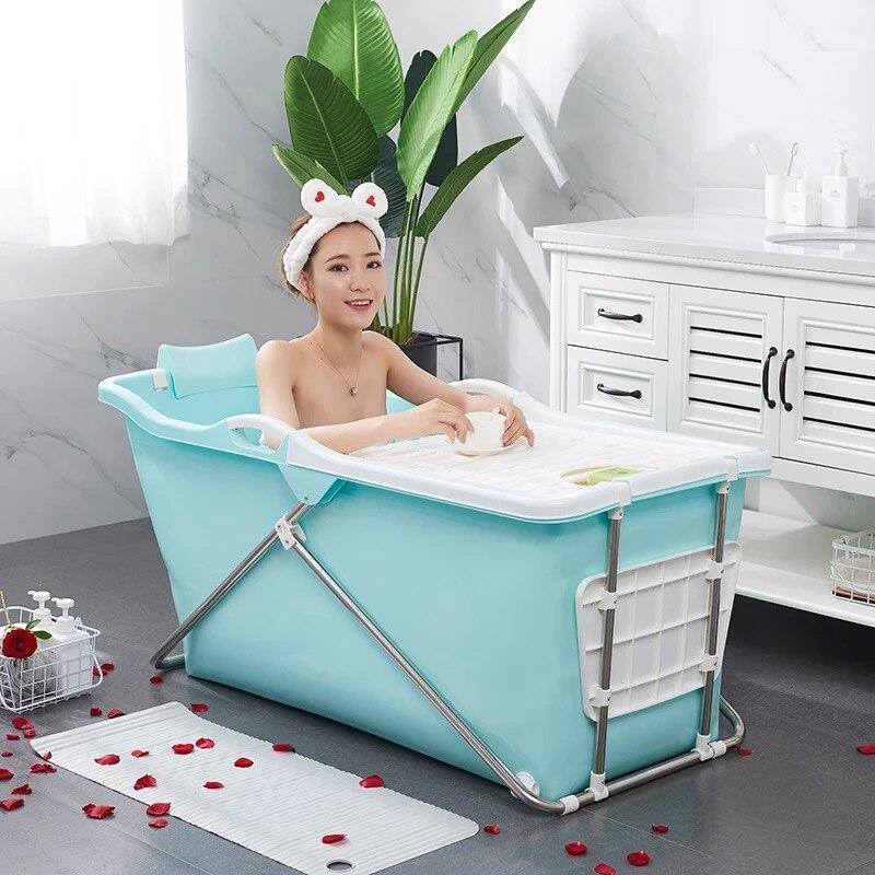 Adulto europeu que dobra a banheira inflável adulta da isolação portátil da banheira plástica do banho do produto comestível material macio não-tóxico
