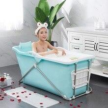 European adult folding portable insulation bathtub adult inflatable bathtub plastic bath tub food grade non-toxic soft material