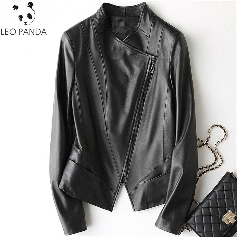 Turn Femme Noir Veste Veritable Col Printemps Black En 2019 Moto