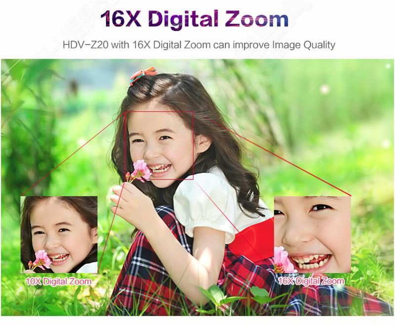 """ORDRO HDV-Z Digital Video Camera Camcorder 3.0"""" Touch Screen 1080P Full HD 16X Zoom 24MP Face Detection LED Fill-in Light DV 10"""
