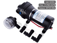 DC 12V Self priming Diaphragm Pump 40PSI,17LPM Agricultural Spraying Water Pump