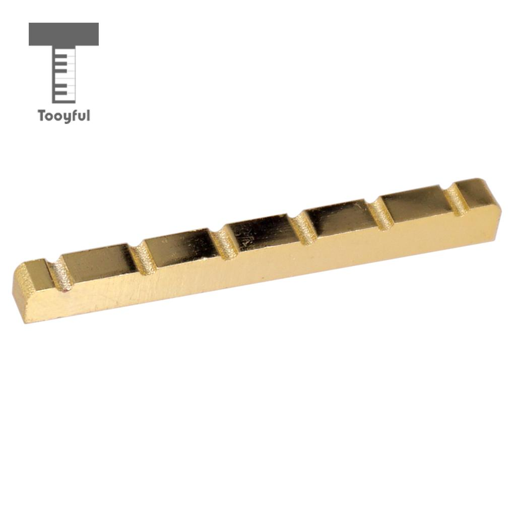 Tooyful Gold Guitar Nut 6 String Slotted for TL ST Style Electric Guitar Replacements