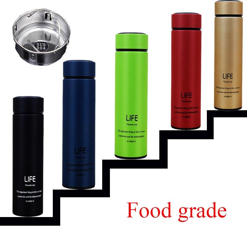 500ml Insulate Thermos Bottle Tea Mug With Strainer Thermo Mug ...