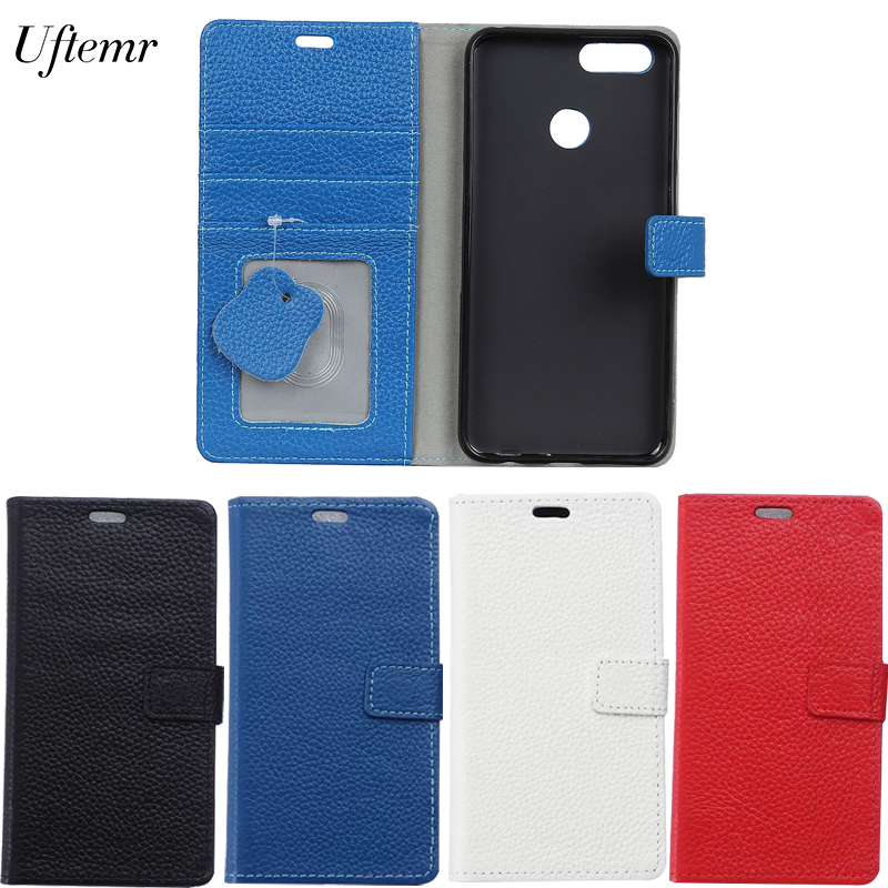 Uftemr Case For Oneplus 5T Cases Magnetic Genuine Leather Flip Wallet Cover Case Mobile Phone Case