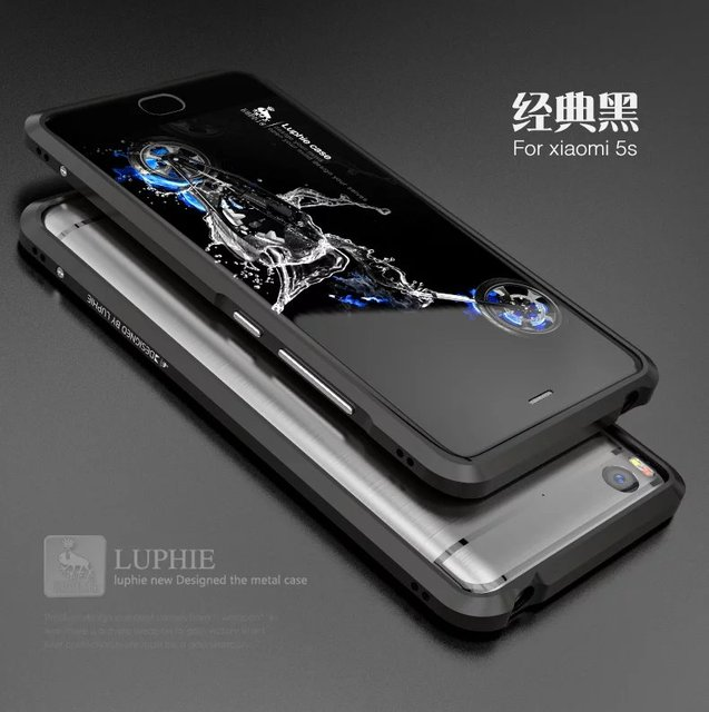 Para caso de telefone xiaomi mi mi5s 5S original luphie de metal de alumínio tampa do caso do quadro bumper para xiaomi mi 5S mi5s luxo metal casos